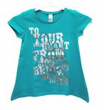 Wholesale Ex Chainstore Girls T-Shirt Top Your Heart Print Green